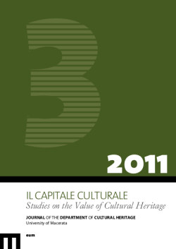 Il Capitale Culturale. Studies on the Value of Cultural Heritage, n. 3/2011