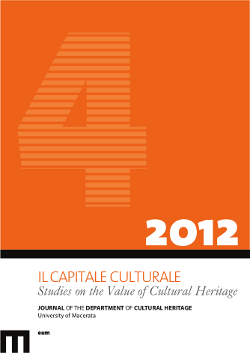 Il Capitale Culturale. Studies on the Value of Cultural Heritage, n. 4/2012