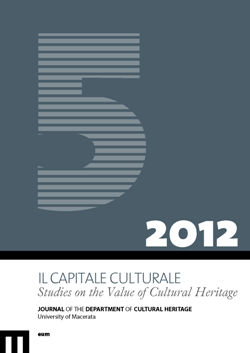 Il capitale culturale. Studies on the Value of Cultural Heritage, , n. 5/2012