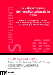 Supplementi (5/2016): La valorizzazione dell'eredità culturale in Italia. Atti del convegno